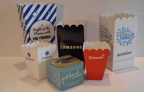 Example Branding on Boxes