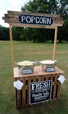 popcorn stall hire