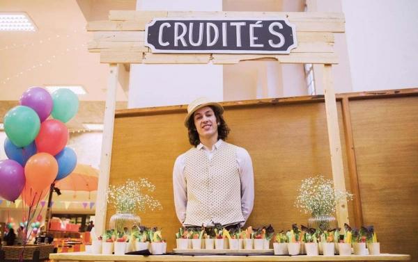 Crudites food stall