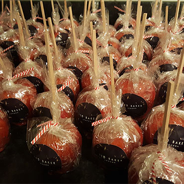 branded toffee apples